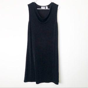 Chico's Travelers Black Cowl Neck Sleeveless Dress